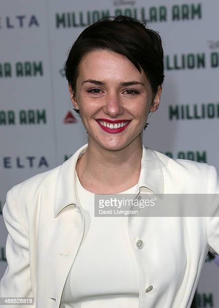 Actress Addison Timlin attends the premiere of Disney's 'Million Dollar Arm' at the El Capitan Theatre on May 6 2014 in Hollywood California
