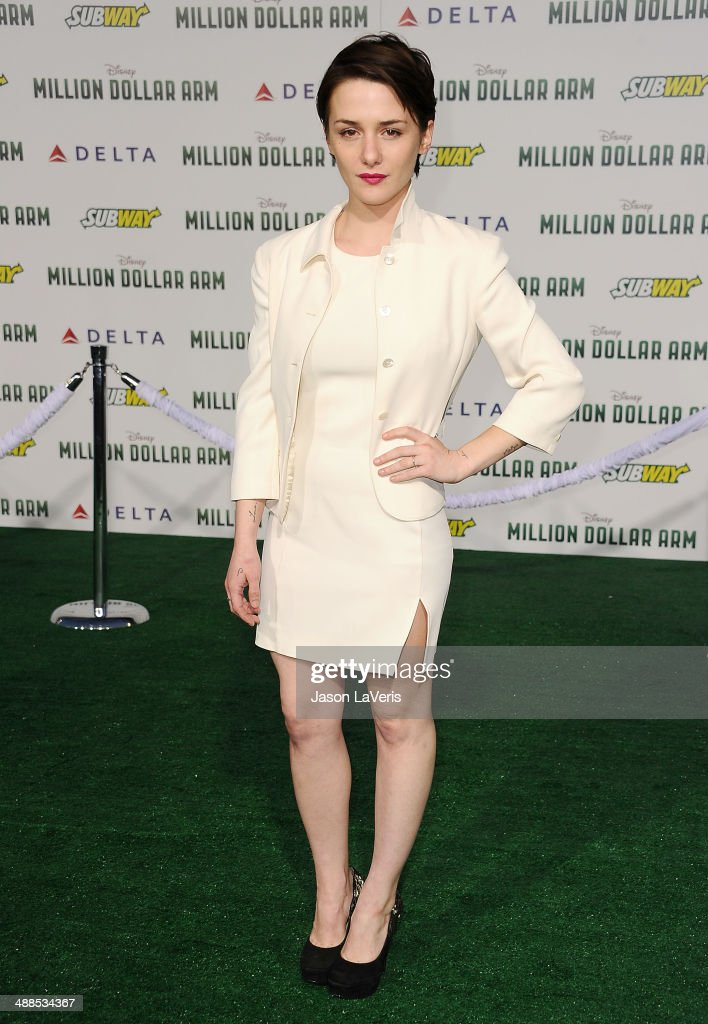 Actress <a gi-track='captionPersonalityLinkClicked' href=/galleries/search?phrase=Addison+Timlin&family=editorial&specificpeople=2189036 ng-click='$event.stopPropagation()'>Addison Timlin</a> attends the premiere of 'Million Dollar Arm' at the El Capitan Theatre on May 6, 2014 in Hollywood, California.