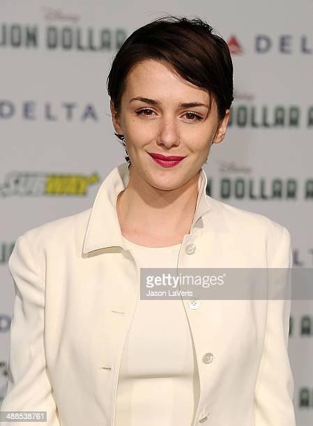 Actress Addison Timlin attends the premiere of 'Million Dollar Arm' at the El Capitan Theatre on May 6 2014 in Hollywood California