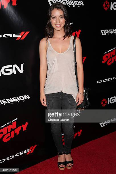 Actress Adelaide Kane arrives at Dimension Films and IGN Entertainment's 'Sin City 2 A Dame To Kill For' party at Hard Rock Hotel San Diego on July...