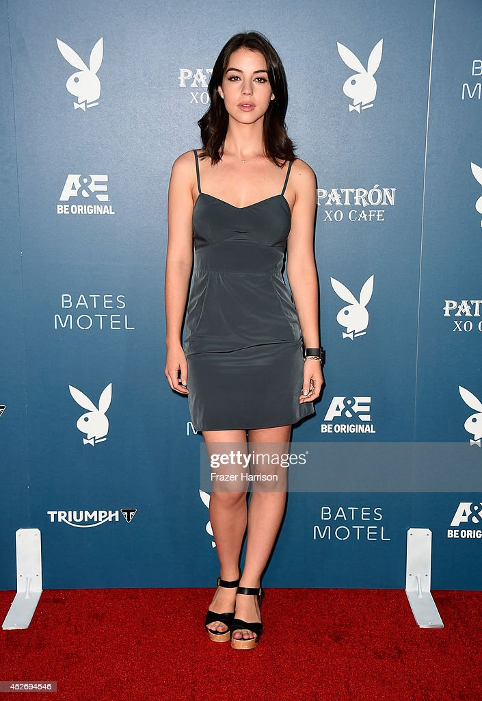 Actress <a gi-track='captionPersonalityLinkClicked' href=/galleries/search?phrase=Adelaide+Kane&family=editorial&specificpeople=1052995 ng-click='$event.stopPropagation()'>Adelaide Kane</a> attends Playboy and A&E 'Bates Motel' Event during Comic-Con International 2014 on July 25, 2014 in San Diego, California.