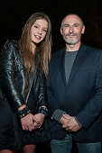 Actress Adele Exarchopoulos and director of Col Coa Francois Truffard attend The French Consulate Cocktail Reception Honoring her And Lea Seydoux...