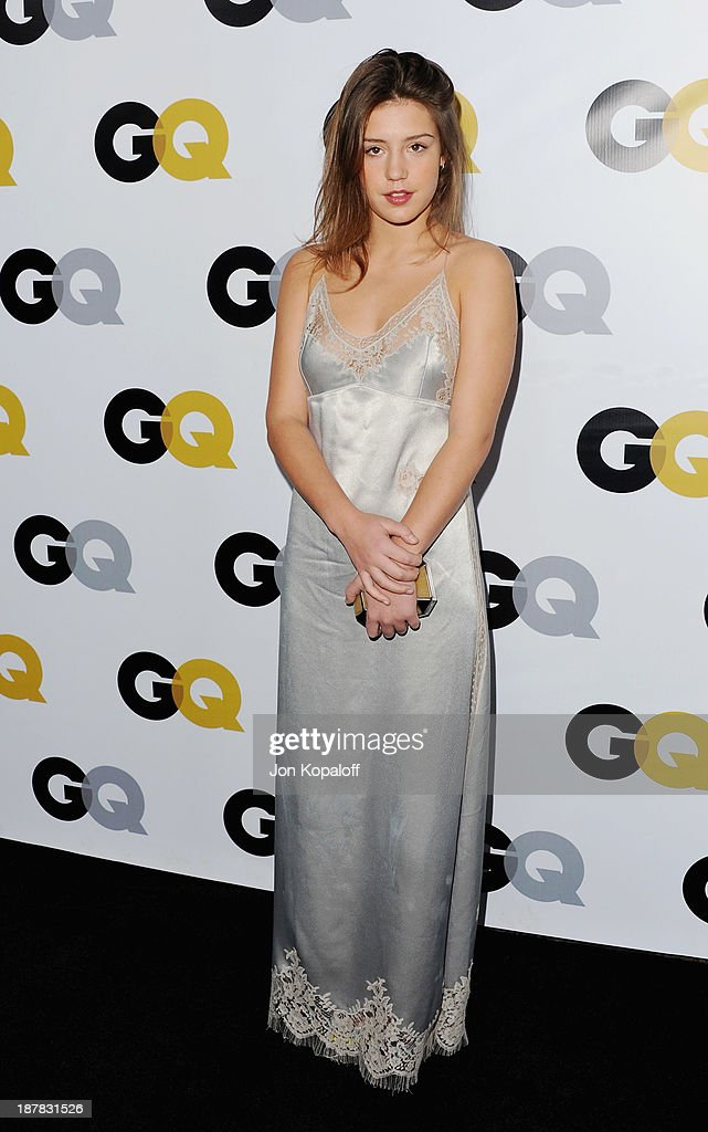 Actress Adele Exarchopoulos arrives at GQ Celebrates The 2013 'Men Of The Year' at The Wilshire Ebell Theatre on November 12, 2013 in Los Angeles, California.