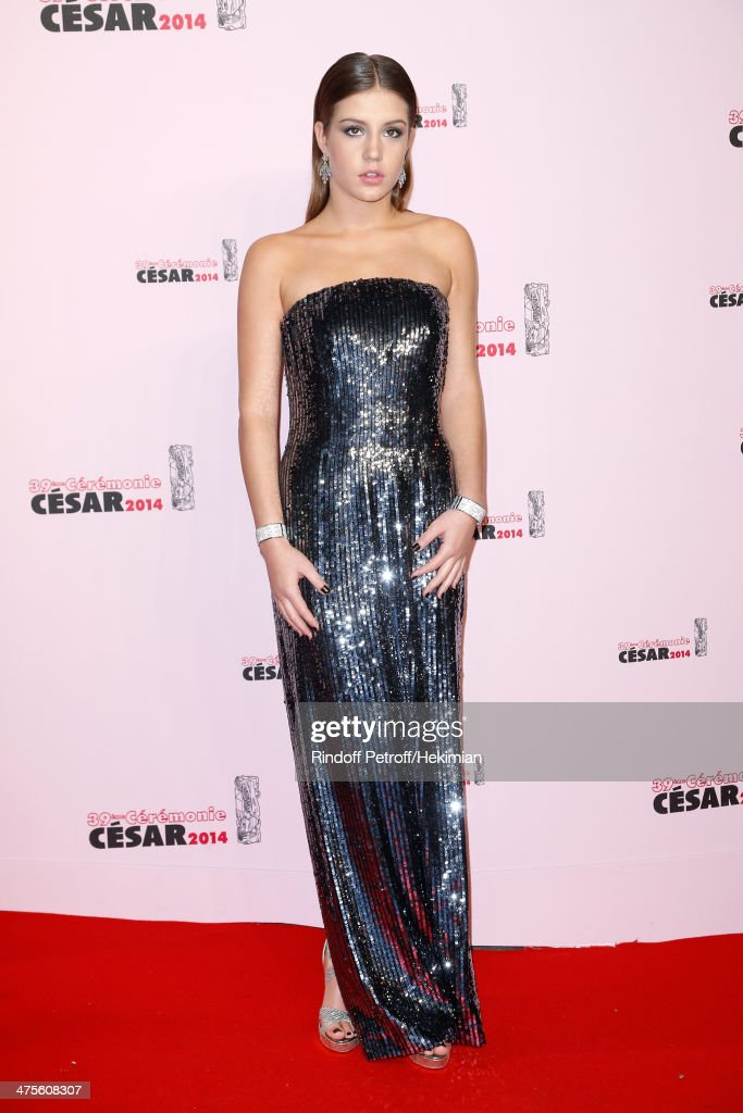 Actress Adele Exarchopoulos arrives for the 39th Cesar Film Awards 2014 at Theatre du Chatelet on February 28, 2014 in Paris, France.