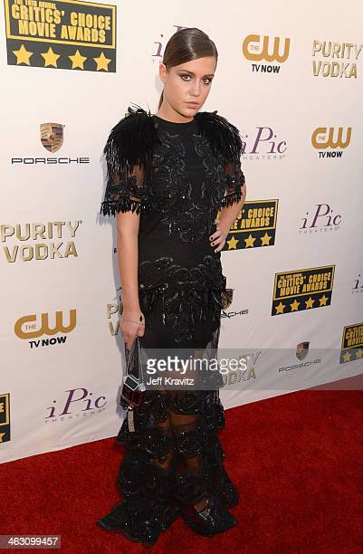 Actress Adele Exarchopoulos attends the 19th Annual Critics' Choice Movie Awards at Barker Hangar on January 16 2014 in Santa Monica California