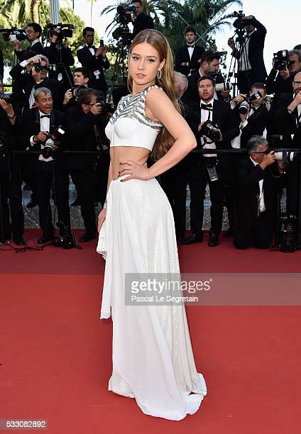 Actress Adele Exarchopoulos attends 'The Last Face' Premiere during the 69th annual Cannes Film Festival at the Palais des Festivals on May 20 2016...