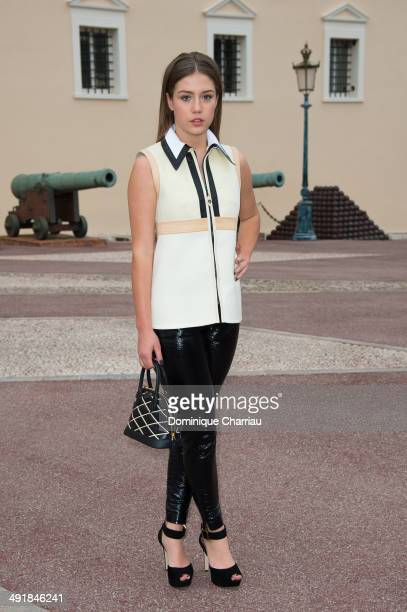 Actress Adele Exarchopoulos attends the Louis Vuitton Cruise Line Show at place d'armes on May 17 2014 in MonteCarlo Monaco