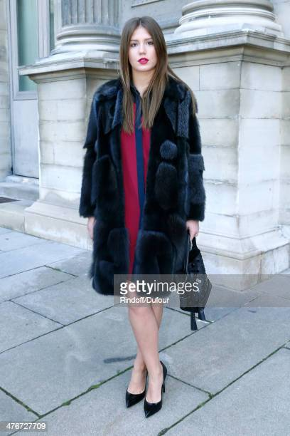 Actress Adele Exarchopoulos attends the Louis Vuitton show as part of the Paris Fashion Week Womenswear Fall/Winter 20142015 on March 5 2014 in Paris...