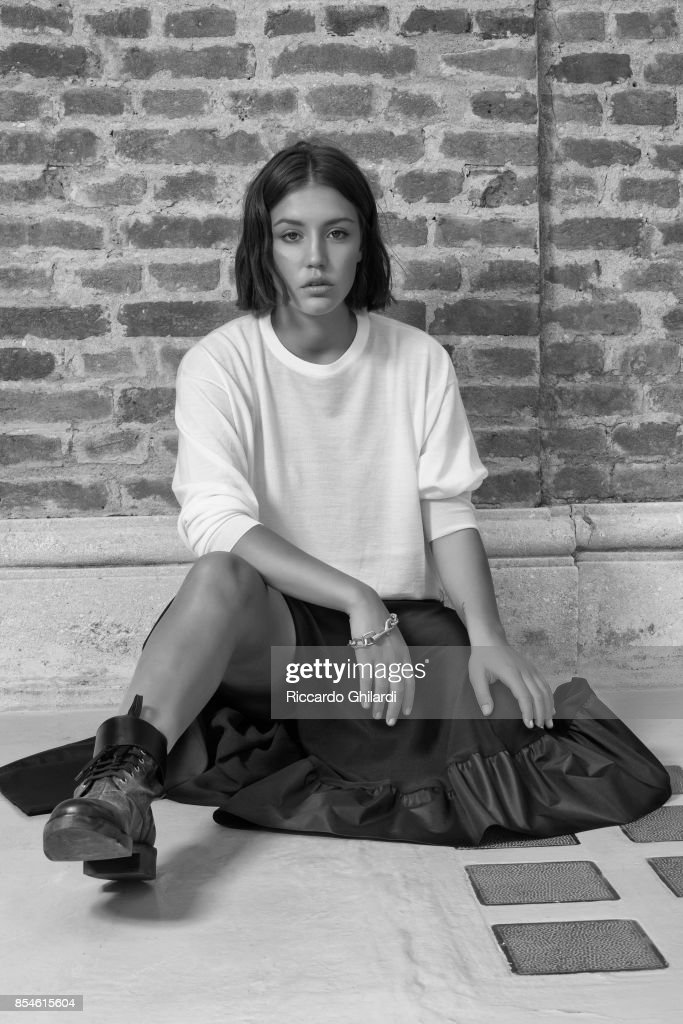 Actress Adele Exarchopoulos is photographed for Self Assignment on September 7, 2017 in Venice, Italy. (Photo by Riccardo Ghilardi/Contour by Getty Images).