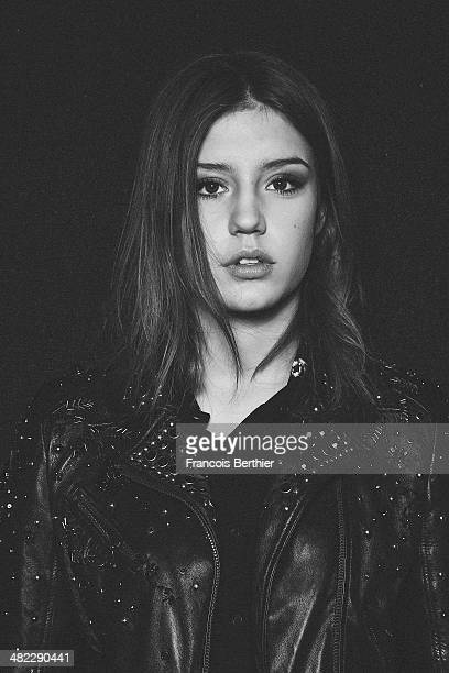 Actress Adele Exarchopoulos is photographed for Self Assignment on March 10 2014 in Paris France