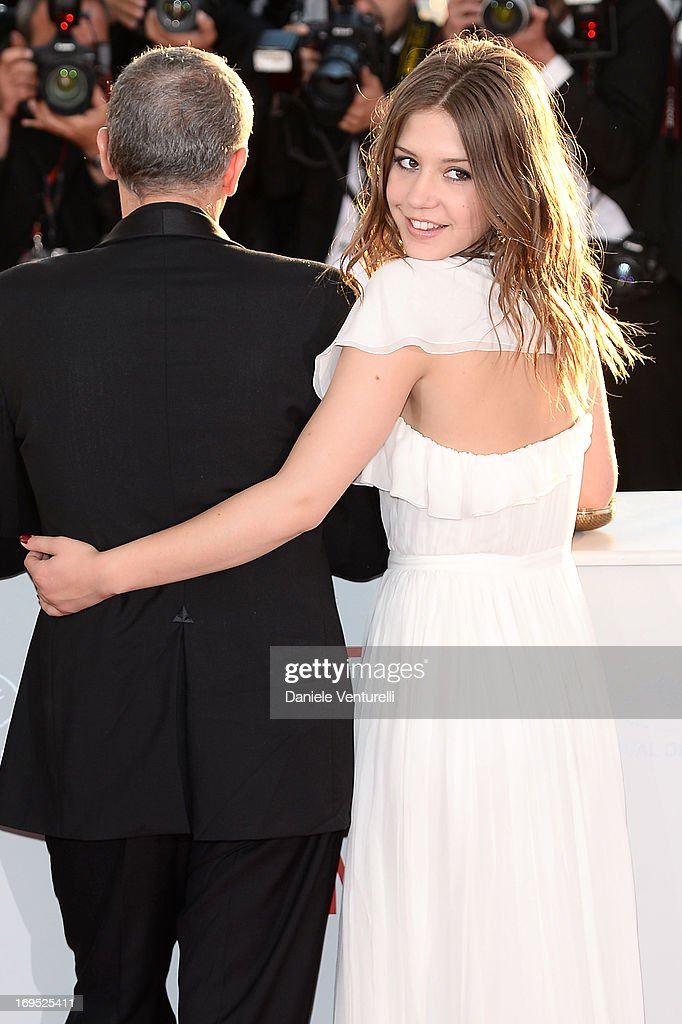 Actress Adele Exarchopoulos poses after 'La Vie D'adele' receives the Palme D'or' at the photocall for award winners during the 66th Annual Cannes Film Festival at Palais des Festivals on May 26, 2013 in Cannes, France.