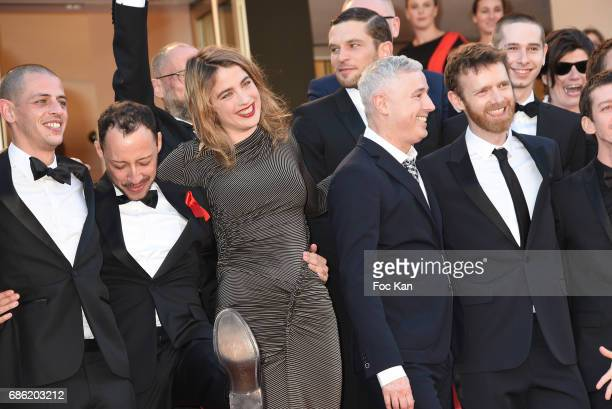 Actress Adele Haenel director Robin Campillo and actors Antoine Reinartz Nahuel Perez Biscayart Aloise Sauvage Felix Maritaud and Arnaud Valois...