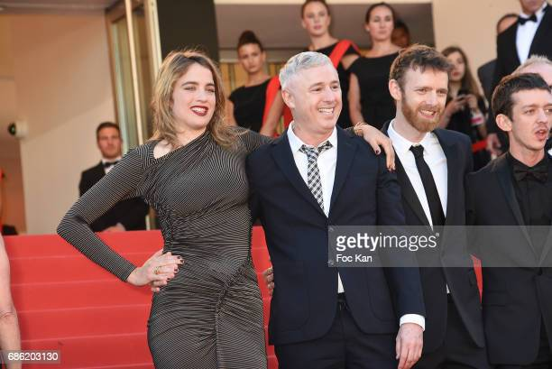 Actress Adele Haenel director Robin Campillo and actors attend the '120 Beats Per Minute ' screening during the 70th annual Cannes Film Festival at...