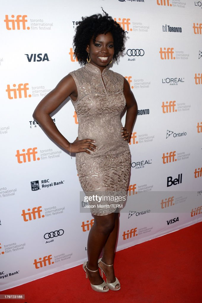 Actress <a gi-track='captionPersonalityLinkClicked' href=/galleries/search?phrase=Adepero+Oduye&family=editorial&specificpeople=7364868 ng-click='$event.stopPropagation()'>Adepero Oduye</a> arrives at the '12 Years A Slave' Premiere during the 2013 Toronto International Film Festival Princess of Wales Theatre on September 6, 2013 in Toronto, Canada.