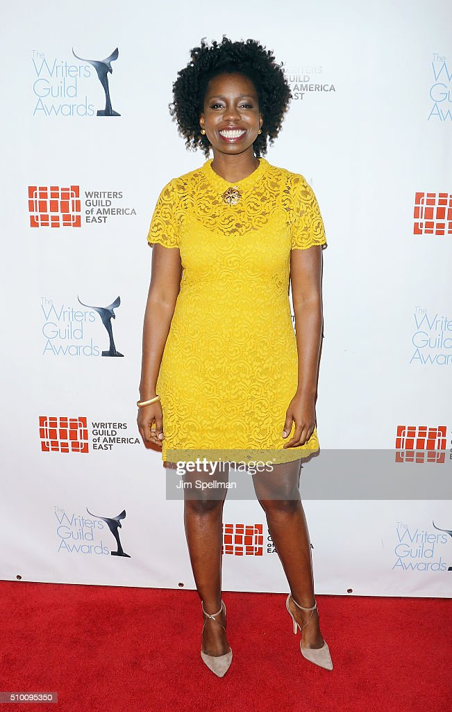 Actress <a gi-track='captionPersonalityLinkClicked' href=/galleries/search?phrase=Adepero+Oduye&family=editorial&specificpeople=7364868 ng-click='$event.stopPropagation()'>Adepero Oduye</a> attends the 2016 Writers Guild Awards New York ceremony at The Edison Ballroom on February 13, 2016 in New York City.