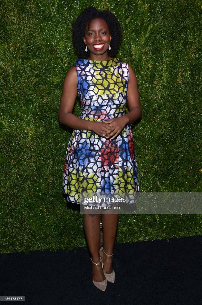 Actress <a gi-track='captionPersonalityLinkClicked' href=/galleries/search?phrase=Adepero+Oduye&family=editorial&specificpeople=7364868 ng-click='$event.stopPropagation()'>Adepero Oduye</a> attends the CHANEL Tribeca Film Festival Artists Dinner at Balthazar on April 22, 2014 in New York City.