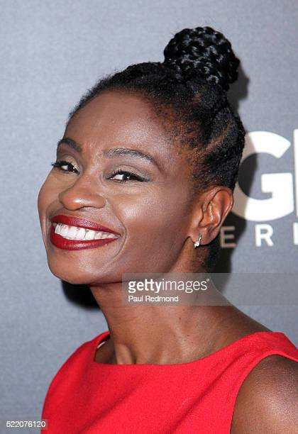 Actress Adina Porter arriving at WGN America Presents 'Underground' For Your Consideration EMMY Event at The Beverly Hilton Hotel on April 17 2016 in...