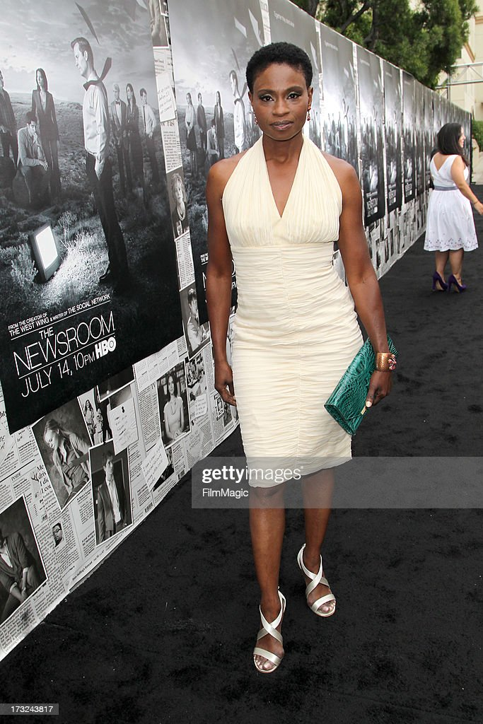 Actress Adina Porter attends HBO's 'The Newsroom' season 2 premiere at Paramount Studios on July 10, 2013 in Hollywood, California.
