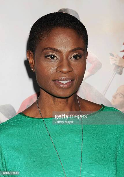 Actress Adina Porter attends the premiere of HBO's 'Veep' 3rd season held at Paramount Studios on March 24 2014 in Hollywood California