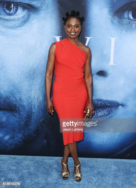 Actress Adina Porter attends the season 7 premiere of 'Game Of Thrones' at Walt Disney Concert Hall on July 12 2017 in Los Angeles California