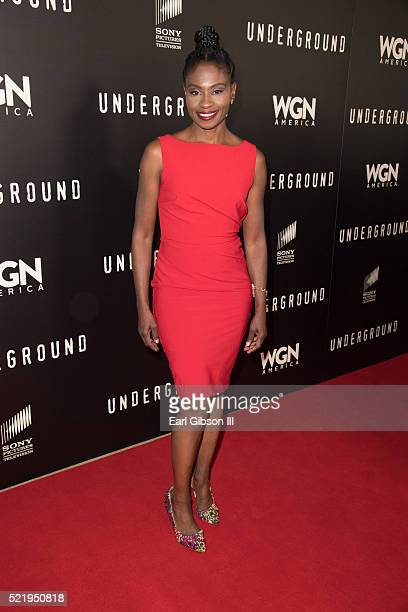Actress Adina Porter attends the WGN America Presents 'Underground' For Your Consideration Emmy Event at The Beverly Hilton Hotel on April 17 2016 in...