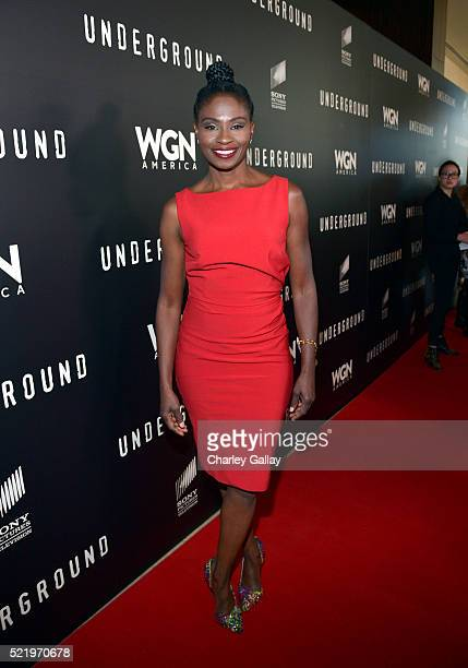 Actress Adina Porter attends WGN America's 'Underground' For Your Consideration Emmy Event on April 17 2016 in Beverly Hills California