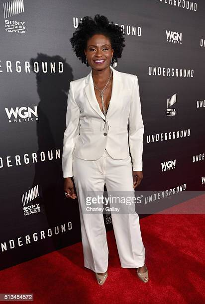 Actress Adina Porter attends WGN America's 'Underground' World Premiere on March 2 2016 in Los Angeles California