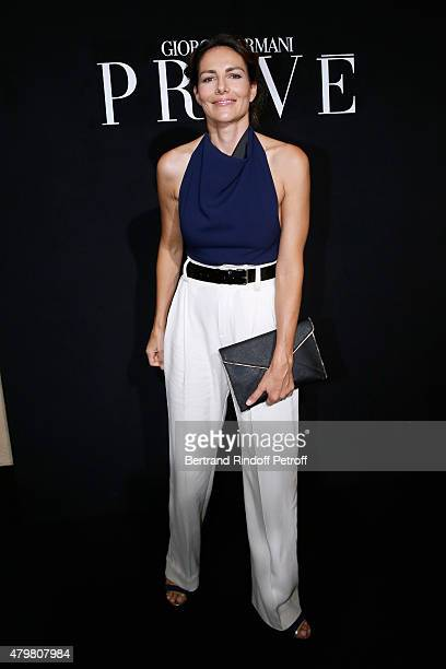 Actress Adriana Abascal attends the Giorgio Armani Prive show as part of Paris Fashion Week HauteCouture Fall/Winter 2015/2016 Held at Palais de...