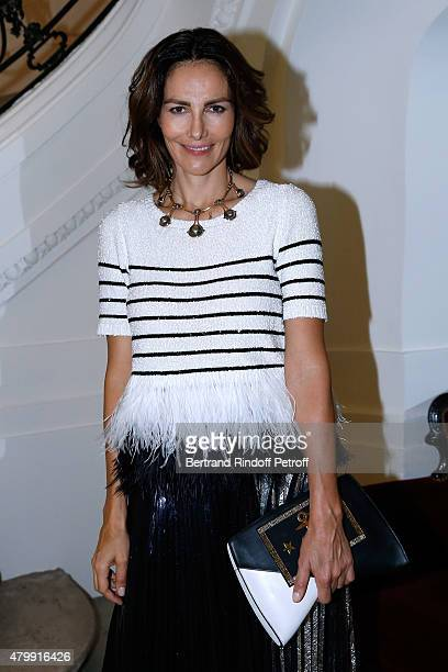 Actress Adriana Abascal attends the Jean Paul Gaultier show as part of Paris Fashion Week HauteCouture Fall/Winter 2015/2016 on July 8 2015 in Paris...