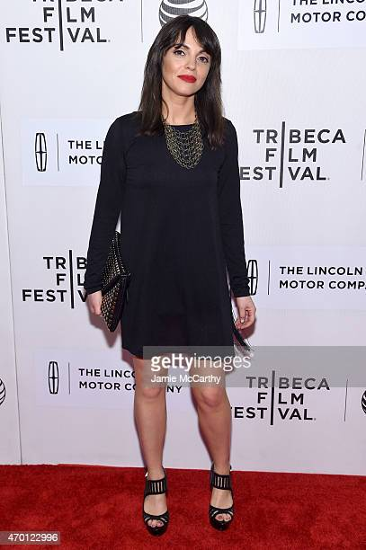 Actress Adriana DeMeo attends the premiere of 'The Wannabe' during the 2015 Tribeca Film Festival at BMCC Tribeca PAC on April 17 2015 in New York...