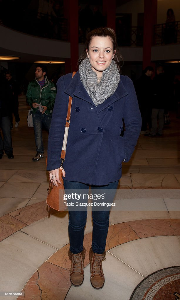 Actress Adriana Torrebejano attends La Oreja de Van Gogh concert at Arteria Coliseum Theatre on January 24, 2012 in Madrid, Spain.