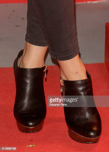 Actress Adriana Torrebejano shoes detail attends the 'Mercado de Sabores' 3rd edition photocall at Madrid Cityhall on October 19 2016 in Madrid Spain
