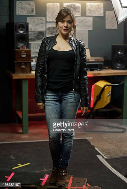 Actress Adriana Ugarte attends a photo session at 'Combustion' set filming at Santa Catalina avenue on November 16 2012 in Madrid Spain