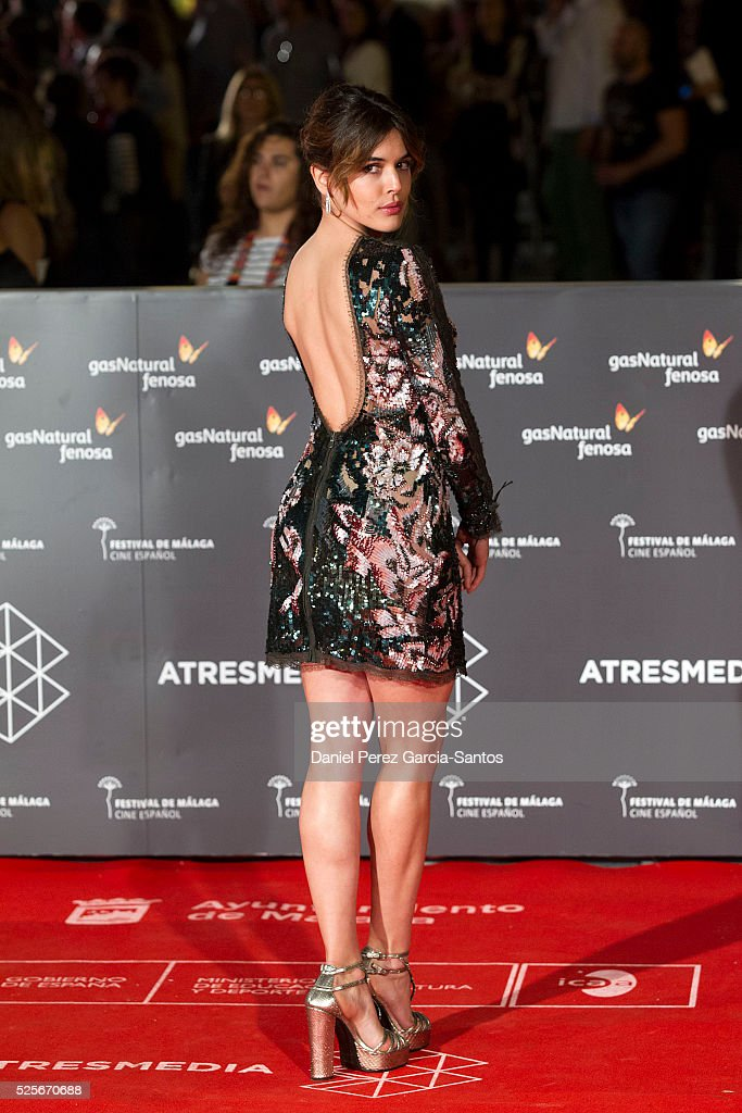 Actress Adriana Ugarte attends 'La Ultima Piel' premiere at the Cervantes Teather during the 19th Malaga Film Festival on April 28, 2016 in Malaga, Spain.