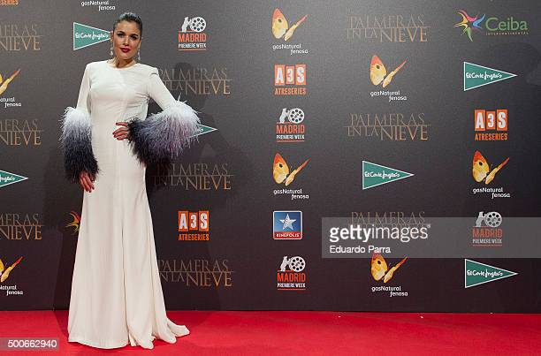 Actress Adriana Ugarte attends 'Palmeras en la nieve' premiere at Kinepolis cinema on December 9 2015 in Madrid Spain