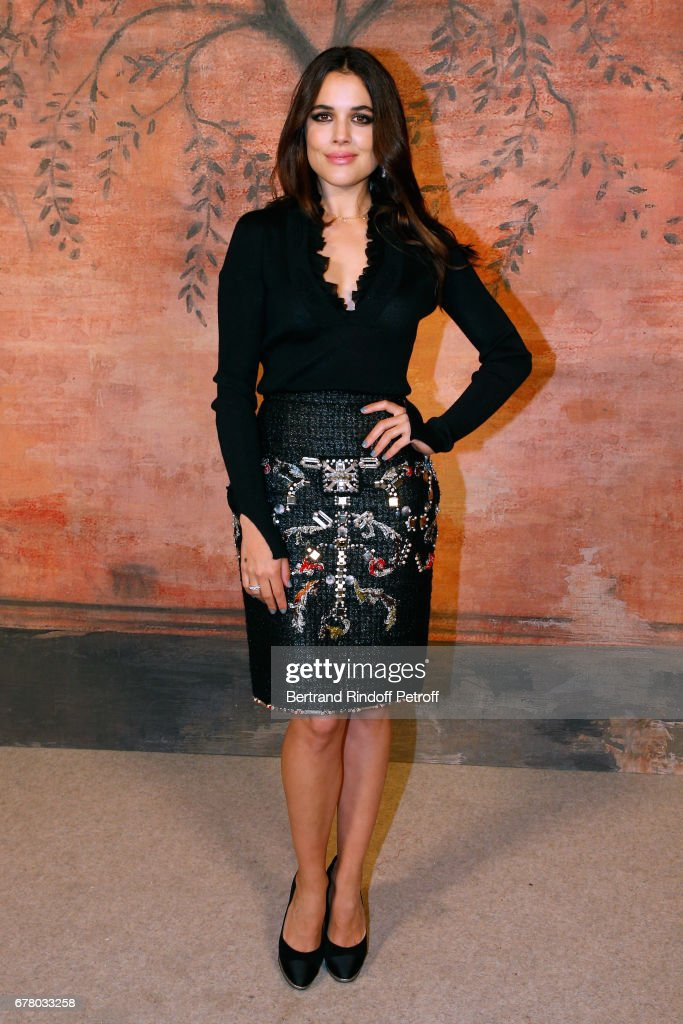 Actress Adriana Ugarte attends the Chanel Cruise 2017/2018 Collection Show at Grand Palais on May 3, 2017 in Paris, France.