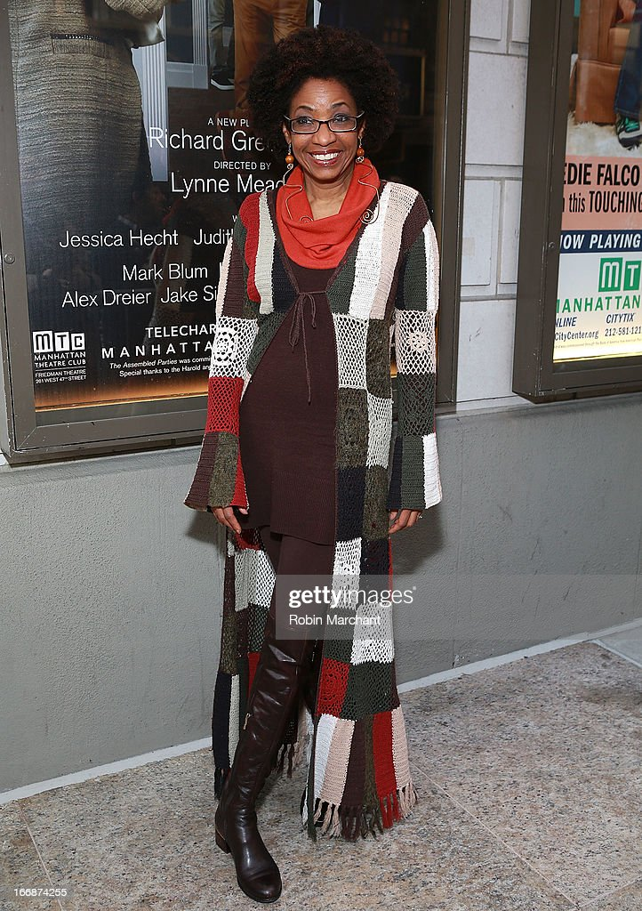 Actress Adriane Lenox attends the 'The Assembled Parties' opening night at Samuel J. Friedman Theatre on April 17, 2013 in New York City.