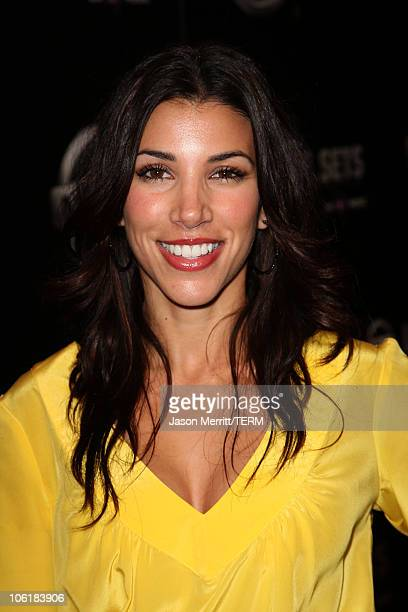 Actress Adrianna Costa arrives at the Nissan Live Sets on Yahoo Music Anniversary Celebration at FOX Studios Lot on November 27 2007 in Century City...