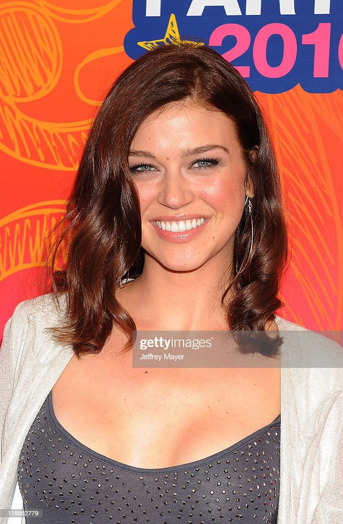 Actress Adrianne Palicki arrives at the FOX 2010 Summer TCA All-Star Party at Pacific Park - Santa Monica Pier on August 2, 2010 in Santa Monica, California. at Pacific Park .