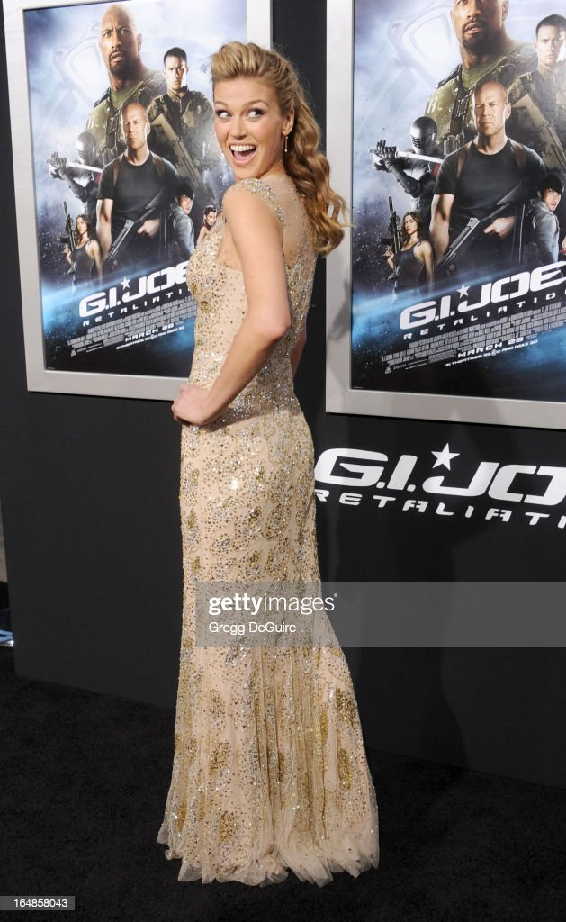 Actress Adrianne Palicki arrives at the 'G.I. Joe: Retaliation' Los Angeles premiere at TCL Chinese Theatre on March 28, 2013 in Hollywood, California.