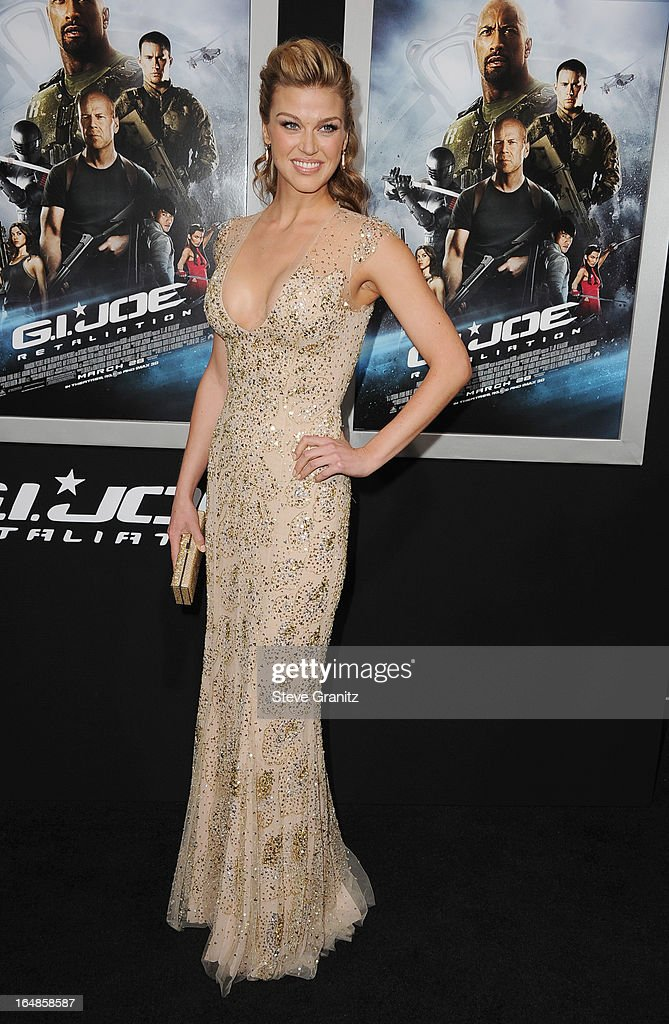 Actress Adrianne Palicki attends the 'G.I. Joe: Retaliation' Los Angeles Premiere at TCL Chinese Theatre on March 28, 2013 in Hollywood, California.