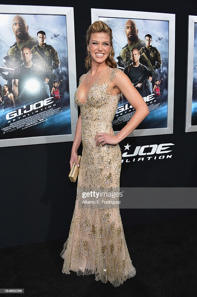 Actress Adrianne Palicki attends the premiere of Paramount Pictures' 'G.I. Joe: Retaliation' at TCL Chinese Theatre on March 28, 2013 in Hollywood, California.