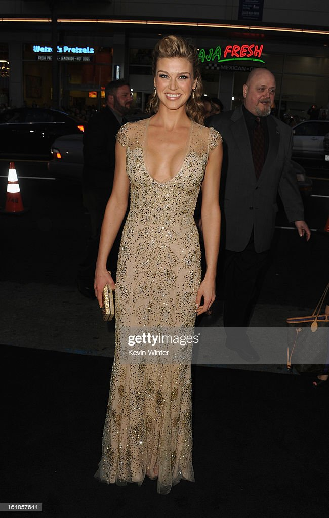 Actress Adrianne Palicki attends the premiere of Paramount Pictures' 'G.I. Joe:Retaliation' at TCL Chinese Theatre on March 28, 2013 in Hollywood, California.