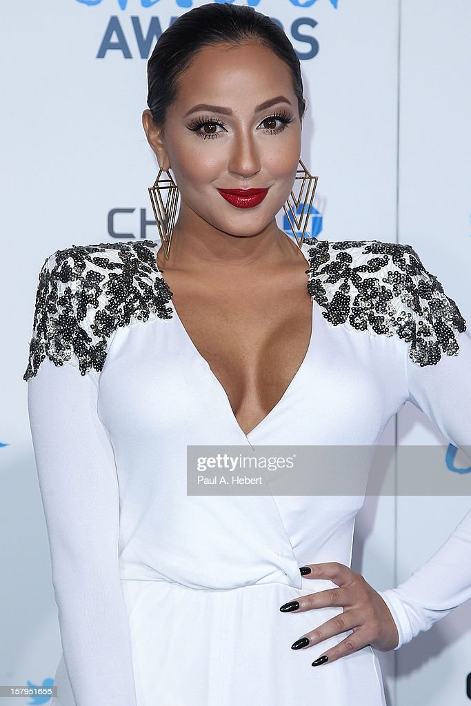 Actress Adrienne Bailon arrives at the 2nd Annual American Giving Awards presented by Chase held at the Pasadena Civic Auditorium on December 7, 2012 in Pasadena, California.
