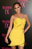 Actress Adrienne Bailon arrives at the Belvedere IX Launch Party on February 5 2009 in Hollywood California
