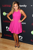 Actress Adrienne Bailon attends Latina Magazine's '30 Under 30' Party at the SkyBar at the Mondrian Los Angeles hotel on November 13 2014 in West...