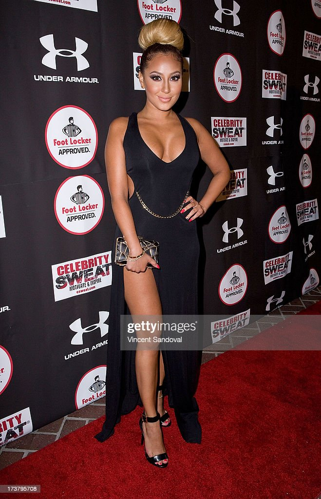 Actress <a gi-track='captionPersonalityLinkClicked' href=/galleries/search?phrase=Adrienne+Bailon&family=editorial&specificpeople=540286 ng-click='$event.stopPropagation()'>Adrienne Bailon</a> attends Nelly Hosts An After Party To Celebrate The ESPYS at The Palm on July 17, 2013 in Los Angeles, California.
