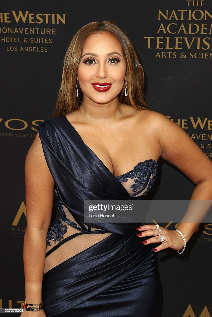 Actress Adrienne Bailon attends the 2016 Daytime Emmy Awards - Arrivals at Westin Bonaventure Hotel on May 1, 2016 in Los Angeles, California.