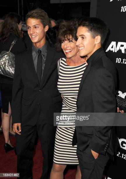 Actress Adrienne Barbeau with William and Walker arrives at the premiere of Warner Bros Pictures' 'Argo' at AMPAS Samuel Goldwyn Theater on October 4...