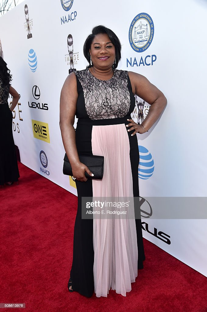 Actress <a gi-track='captionPersonalityLinkClicked' href=/galleries/search?phrase=Adrienne+C.+Moore&family=editorial&specificpeople=7776554 ng-click='$event.stopPropagation()'>Adrienne C. Moore</a> attends the 47th NAACP Image Awards presented by TV One at Pasadena Civic Auditorium on February 5, 2016 in Pasadena, California.